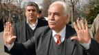 Der türkische Nationalist Dogu Perincek im März 2007 vor dem Gericht in Lausanne.