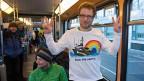 Greenpeace-Aktivist Marco Weber nach seiner Rückkehr in die Schweiz.