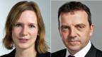 SP-Nationalrätin Evi Allemann, PRO, und SVP-Nationalrat Walter Wobmann, CONTRA.