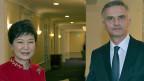 Die südkoreanische Präsidentin Park Geun hye und Bundespräsident und Aussenminister Didier Burkhalter.