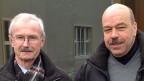 Felix Fuchs, Stadtbaumeister von Aarau, und Urs Siegrist vom Tagesgespräch von Radio SRF.