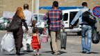 Flüchtlinge an der syrisch-türkischen Grenze. Viele von ihnen sind völlig mittellos.
