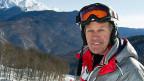 Bernhard Russi - im Februar 2012 als Pistenbauer am Alpinen Ski-Weltcup in Krasnaya Polyana, etwa 50 Kilometer von Sotschi entfernt.
