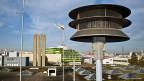 Sirene auf einem Industriegebäude in Winterthur.