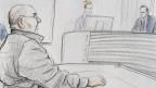 Gerichtszeichnung: 13 Jahre Freiheitsstrafe und eine stationäre Massnahme für den pädophilen Sozialtherapeuten H.S..