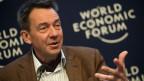 Peter Maurer, Präsident des Internationalen Komitees vom Roten Kreuz (IKRK), spricht während einer Podiumsdiskussion World Economic Forum, WEF, in Davos, im  Januar 2014.