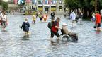 Das Hochwasser von 2005 sorgte auch in Luzern für ungewöhnliche Situationen.