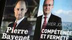 Pierre Bayenet und Olivier Jornot buhlen um das Amt des Genfer Generalstaatsanwalts.