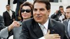 Der ehemalige tunesische Diktator Ben Ali mit seiner Frau Leila. Die Gelder des Ben-Ali-Clans auf Schweizer Konten gehen zurück an Tunesien.