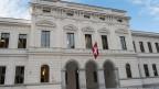 Aussenansicht des Bundesstrafgerichts in Bellinzona, aufgenommen am 28. April 2014.