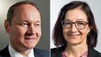 Der ehemalige Drogist und SVP-Nationalrat Jürg Stahl und die grüne Nationalrätin und Ärztin Yvonne Gilli.