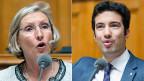 SP-Nationalrätin Prisca Birrer-Heimo und FDP-Nationalrat Andrea Caroni.