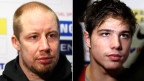 Der mit 36 Jahren älteste Nati-Eishockeyspieler Mathias Seger (rechts) und der jüngste, 17jährige Kevin Fiala.