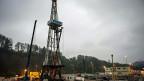 Der Bohrturm des St.-Galler-Geothermieprojekts.
