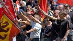 Hitlergruss oder Rütlischwur? Rechtsextreme im August 2007 auf der Rütlwiese.