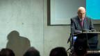 Der italienische Staatspräsident Napolitano während seiner Rede an der Universität Lugano.