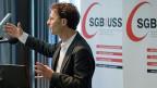 SGB-Zentralsekretär Daniel Lampart wies darauf hin, man dürfe nicht nur das Abstimmungsresultat anschauen, sondern man müsse die ganze Mindestlohn-Kampagne der letzten Jahre im Auge behalten.