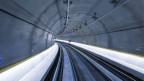 Blick in den Weinbergtunnel, anlässlich des Countdown-Starts der Durchmesserlinie am 26. November 2013 auf der Baustelle unter dem Hauptbahnhof in Zürich