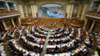 Blick in den Nationalratssaal am 8. Mai 2014 während der Sondersession der Eidgenössischen Räte in Bern.