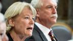 Verena Diener, GLP-ZH (links) und  Markus Stadler, GLP-UR am 11. März 2014 im Ständerat in Bern. Die Grünliberalen haben die Initiative lanciert.