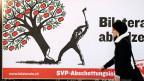 Plakat der Gegner der Volksinitiative vom 14. Februar 2012 «Gegen Masseneinwanderung».