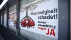 Ein Plakat zur SVP-Zuwanderungsinitiative am 7. Januar 2014 in Bern.