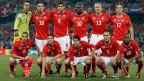 Die Schweizer Fussball-Nationalmannschaft  im Vorrundenspiel zwischen der Schweiz und Honduras am  25. Juni 2010. Das Spiel endete 0:0 unentschieden.