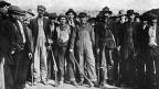 Bewaffnete Streikende in Ludlow, Colorado, 1914.