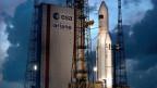 Raumfahrt ist seit Jahren ein Teil der Ruag-Strategie. Bild: Ariane-5-Rakete auf der Abschussrampe in Kourou, Französisch-Guayana.