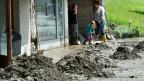 Aufräumarbeiten in Bumbach im Emmental nach dem verheerenden Unwetter vom 24. Juli 2014.