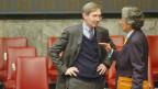 Michel Duclos, französischer Botschafter in der Schweiz, links im Bild.