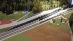Modell der Einfahrt in den Eppenbergtunnel.