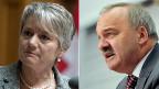 SP-Nationalrätin Jacqueline Fehr und SVP-Ständerat Alex Kuprecht.