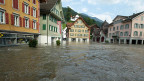 Am 23. August 2005 stand der Obwaldner Kantonshauptort Sarnen bis zu einem Meter hoch unter Wasser.