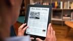 Online statt Papier: Die Neue Zürcher Zeitung (NZZ) auf dem ipad.