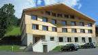 Der Knick in der Fassade bedeutet die offenen Arme, welche die Gäste empfangen. Die neue Jugendherberge in Saanen im Berner Oberland wurde Anfang dieses Sommers eröffnet.