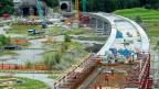 Am Monte Ceneri kann weitergebaut werden. Grund für den Streit waren die Klagen unterlegener Baufirmen.