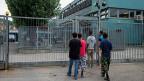Das Asyl-Empfangszentrum in Chiasso, betreut wird dieses von der privaten Firma ORS.