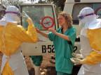 Mitarbeiterin von «Ärzte ohne Grenzen» im Einsatz in Guinea.