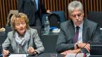 Bundesrätin Eveline Widmer-Schlumpf am Ecofin-Treffen der EU-Finanzminister in Luxemburg.