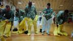 US-Soldaten beim Training für einen Einsatz in den Ebola-Gebieten Westafrikas. Üben Schweizer Soldaten bald dasselbe?