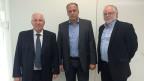 Christoph Blocher, Peter Voegeli, Bernhard Echte.