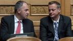 Die Union von CVP und BDP kommt nicht zustande. Der Walliser CVP-Präsident Christoph Darbellay (links) und der Glarner BDP-Präsident Martin Landolt.