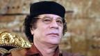 Der libysche Diktator Gadhafi auf einem Bild von 2005.