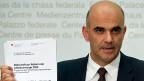 Bundesrat Alain Botschaft präsentiert in Bern die «Botschaft zur Reform der Altersvorsorge 2020».