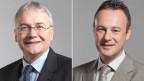 Claude Hêche, Ständeratspräsident (links) und Stéphane Rossini, Nationalratspräsident.