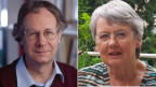 François Höpflinger, Soziologe und Altersforscher (links) und Brigitte Poltera, Autorin von seniorweb.ch.
