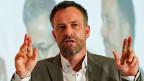 NZZ-Chefredaktor Mmarkus Spillmann am 12. September am Schweizer Medienkongress in Interlaken.