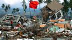 Zerstörtes Haus in Banda Aceh nach dem verheerenden Tsunami vom 26. Januar 2004.