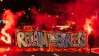 Demonstranten der «Reclaim the Streets»-Bewegung am vergangenen Freitag Abend in der Zürcher Innenstadt.